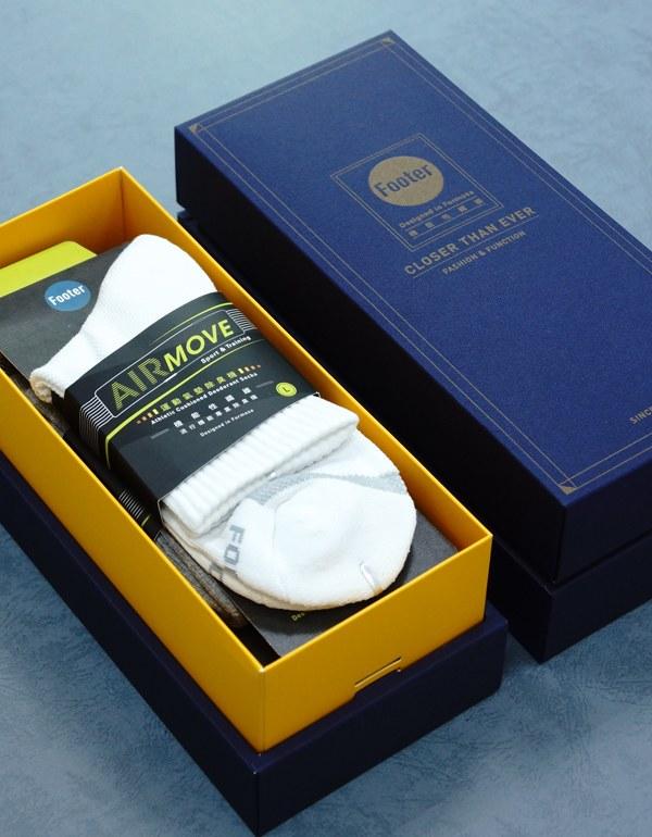 單色運動逆氣流氣墊襪3入禮盒組