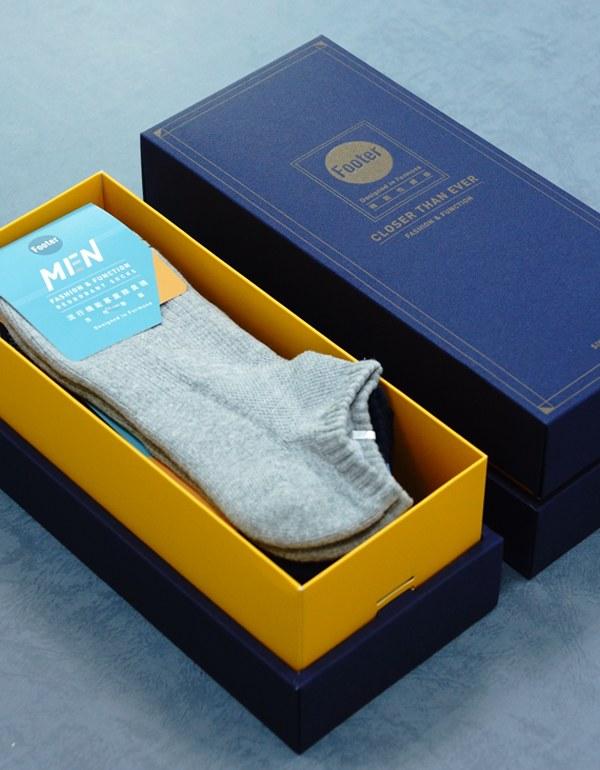 單色運動逆氣流氣墊船短襪3入禮盒組