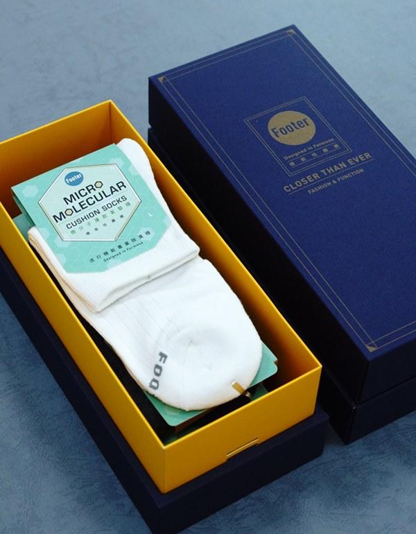 復古直線條微分子薄襪3入禮盒組