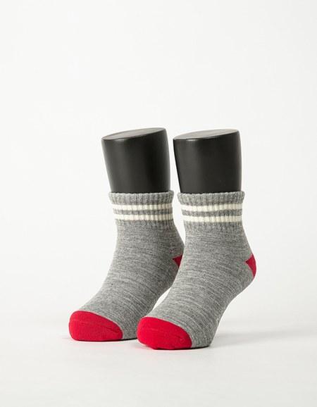 撞色雙橫線條氣墊襪